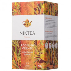 Чай Niktea Rooibush Orange (Ройбуш Оранж), травяной, на чашку 25 пакетов