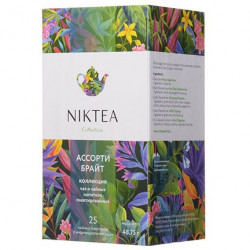 Чай Niktea Assorti Bright (Ассорти Брайт), на чашку, 25 пакетов